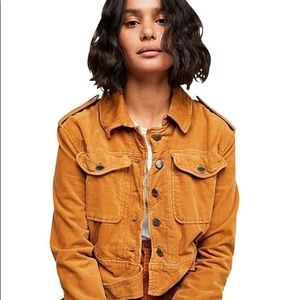 FP Evelyn Velour Cropped Jacket